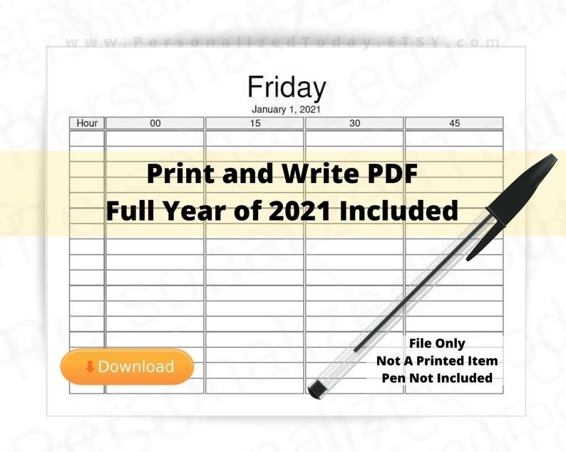 Collect Free Printable 15 Min Appointment
