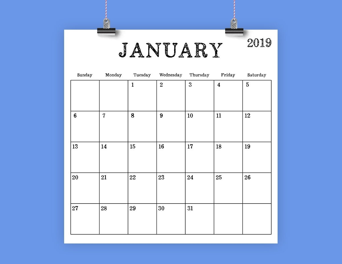 Collect Printable Calendar With No Download