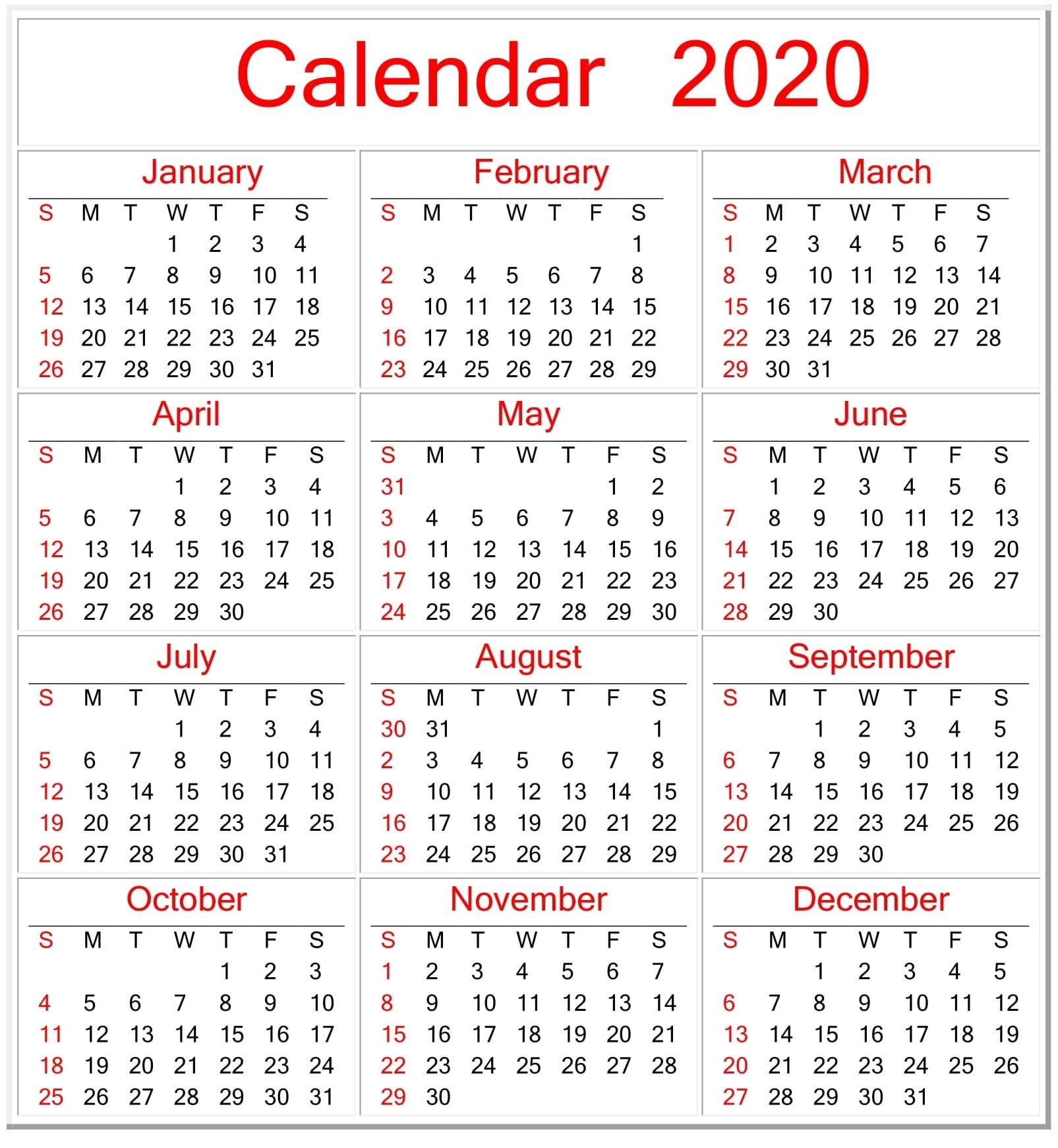 Collect Printable Pocket Calendar