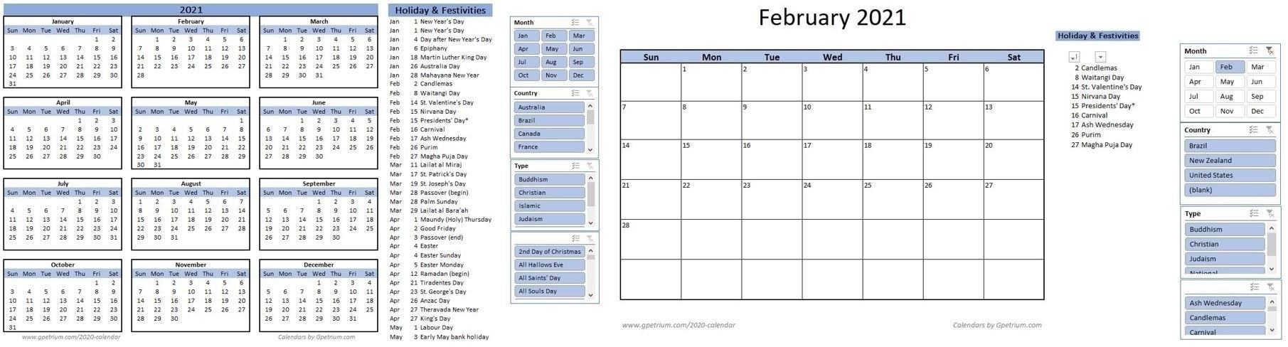 Get Excel 2021 Calendar Formula
