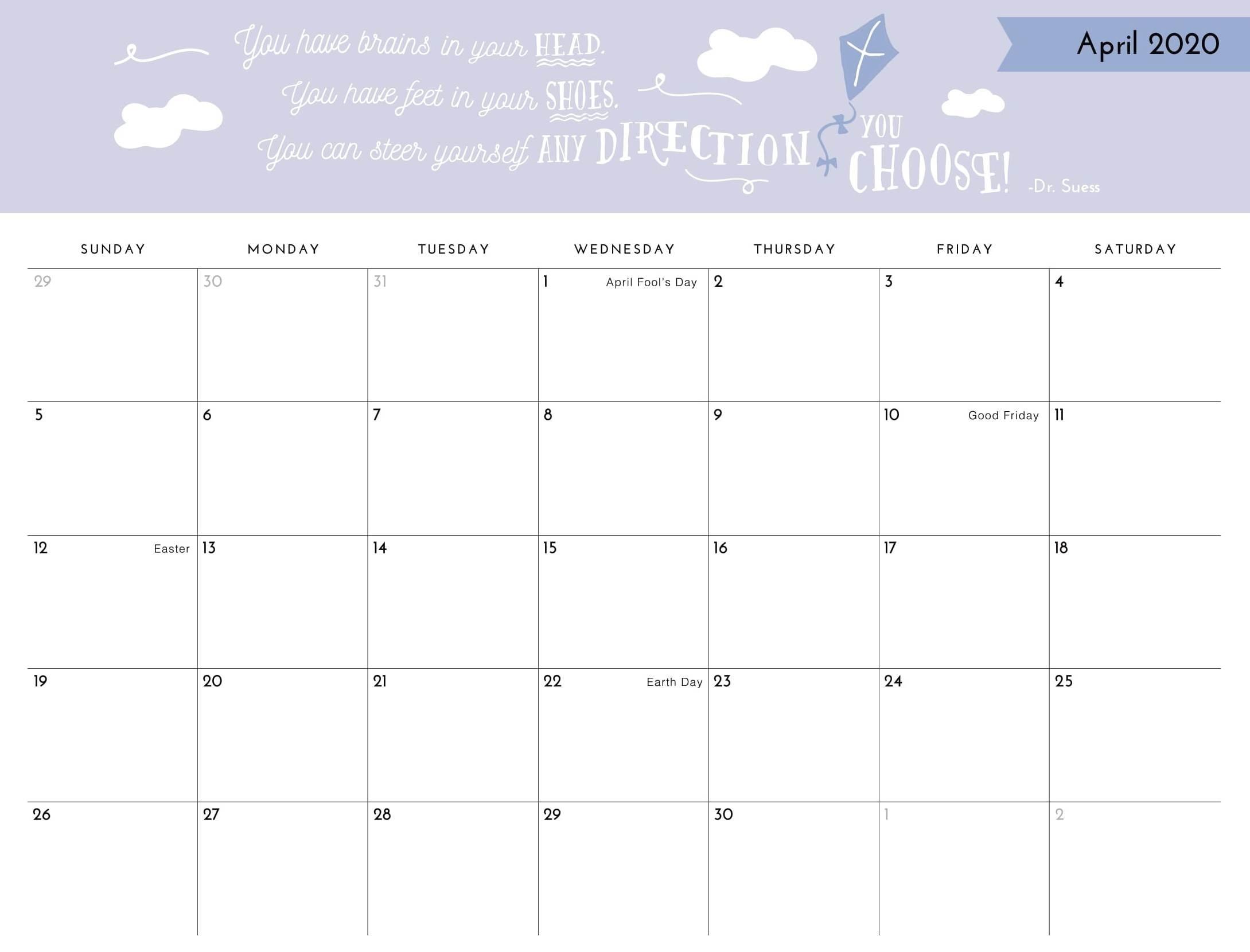 Get No Download Printable Calendar