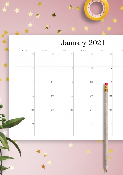 Get Printable Calendar With No Download