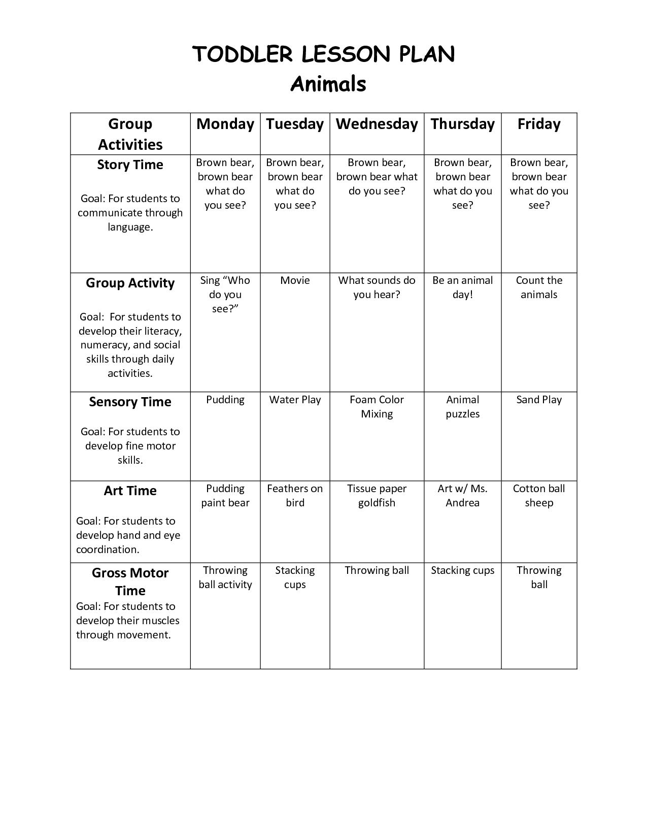 Get Printable Monthly Lesson Plan Calendar