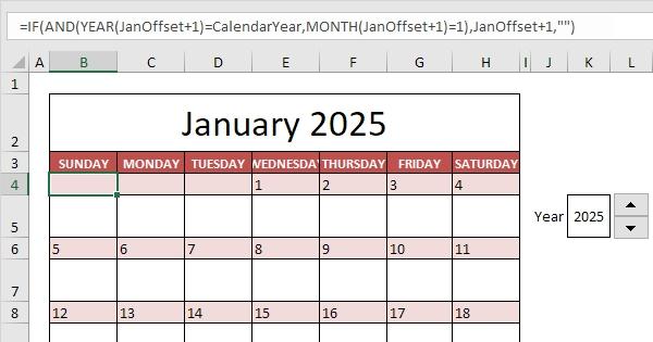 Pick Excel 2021 Calendar Formula