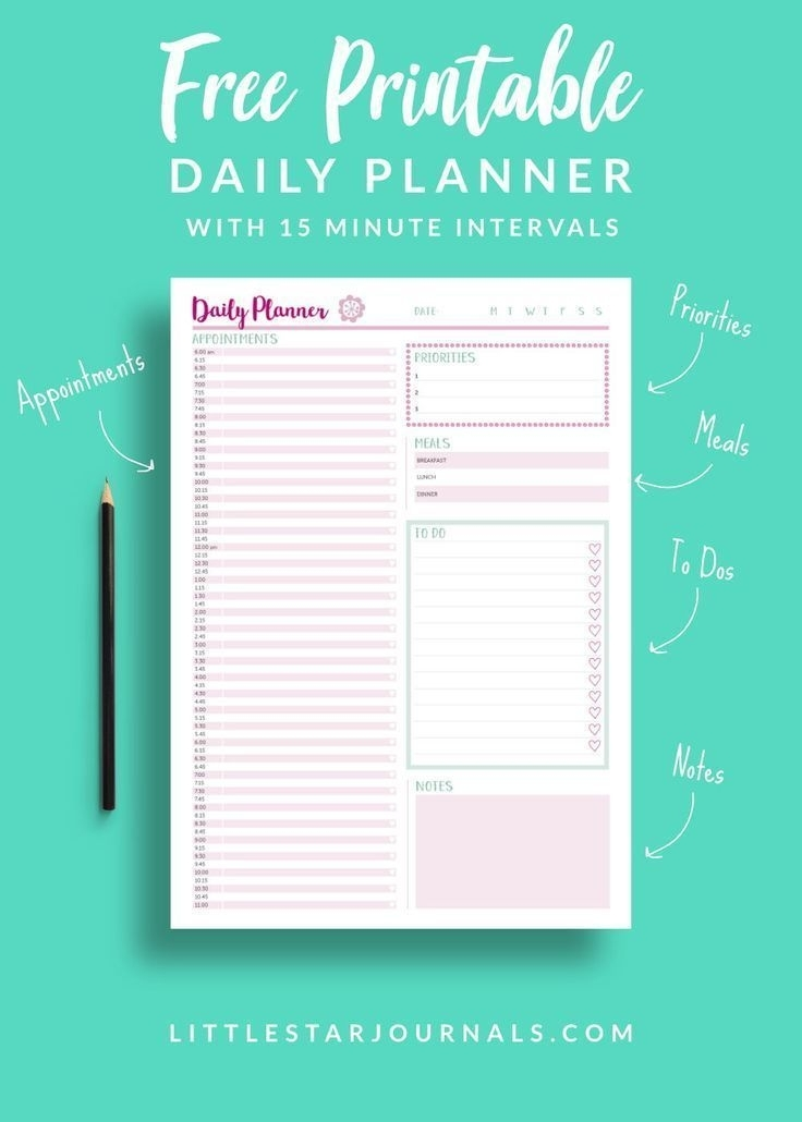 Pick Printable 15 Minute Appointment