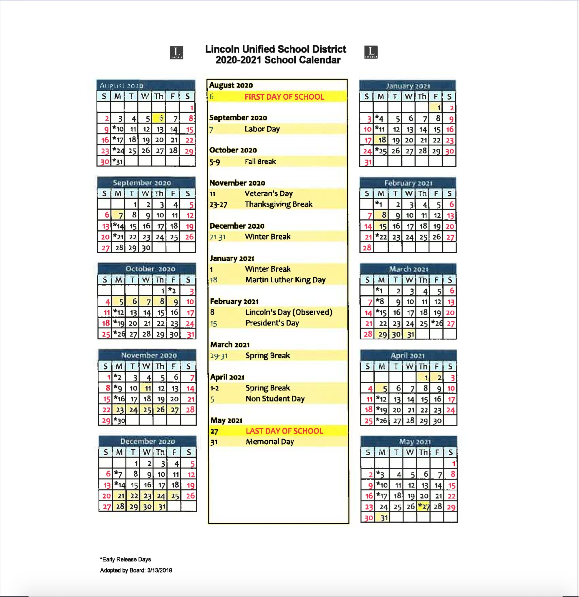 Take Depo Dosing Calendar 2021