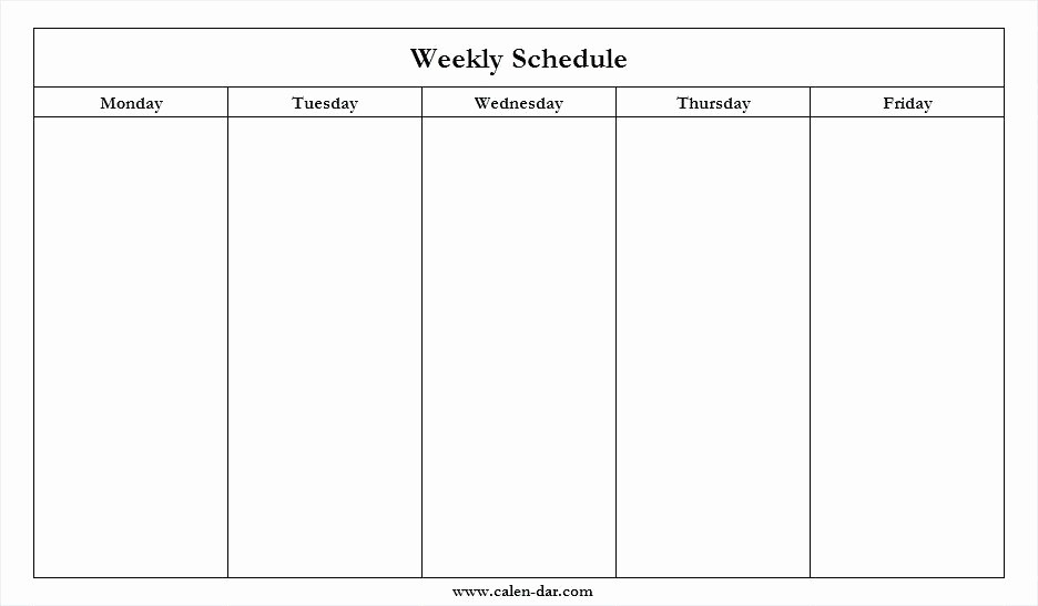 Take Monday To Friday Planner To Print
