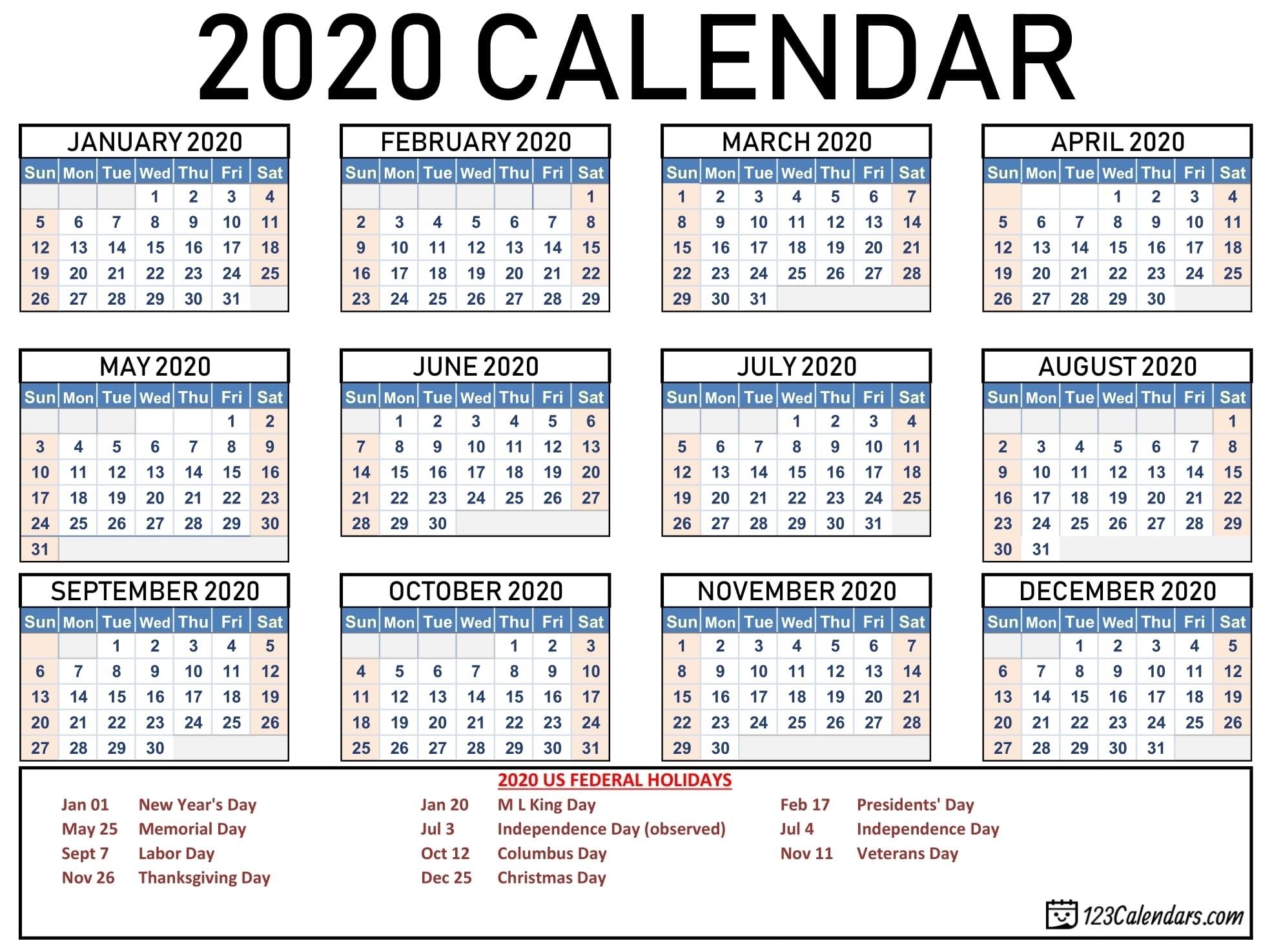 Take Printable Pocket Calendar